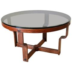 Rare Glass and beechwood Table Vad Norway
