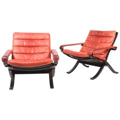 """Pair of Lounge Chairs Model """"Flex"""" by Ingmar Relling"""