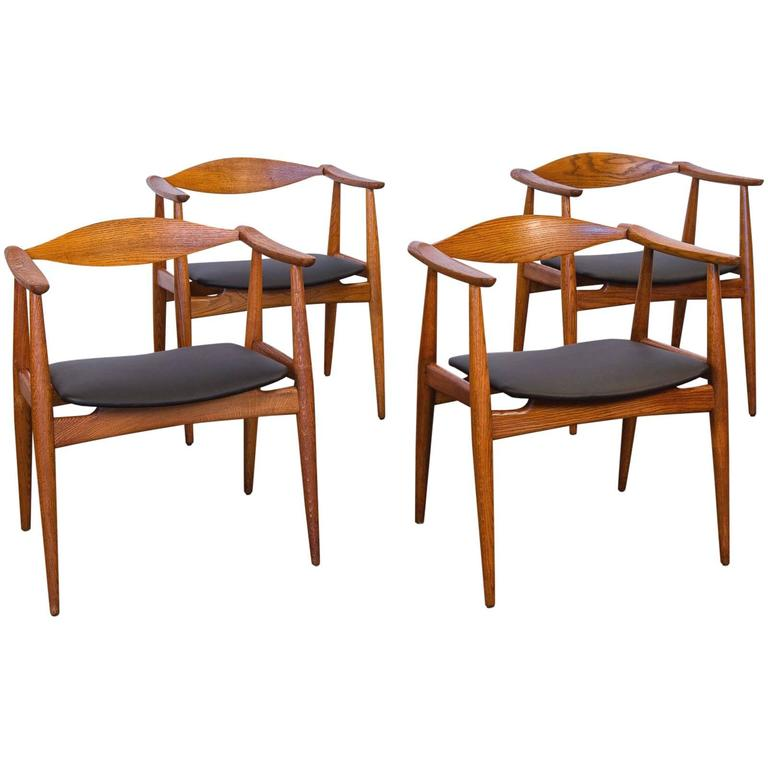Set of Four Hans J. Wegner CH-35 Dining Armchairs
