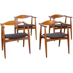 Set of Four Hans J. Wegner CH-35 Armchairs