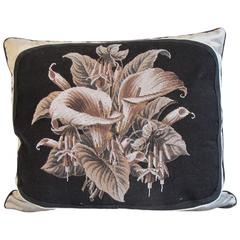 19th Century Beaded Needlepoint Pillow by Mary Jane McCarty