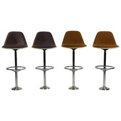 Vintage Bar Stools by Ray & Charles Eames for Herman Miller, Set of Four