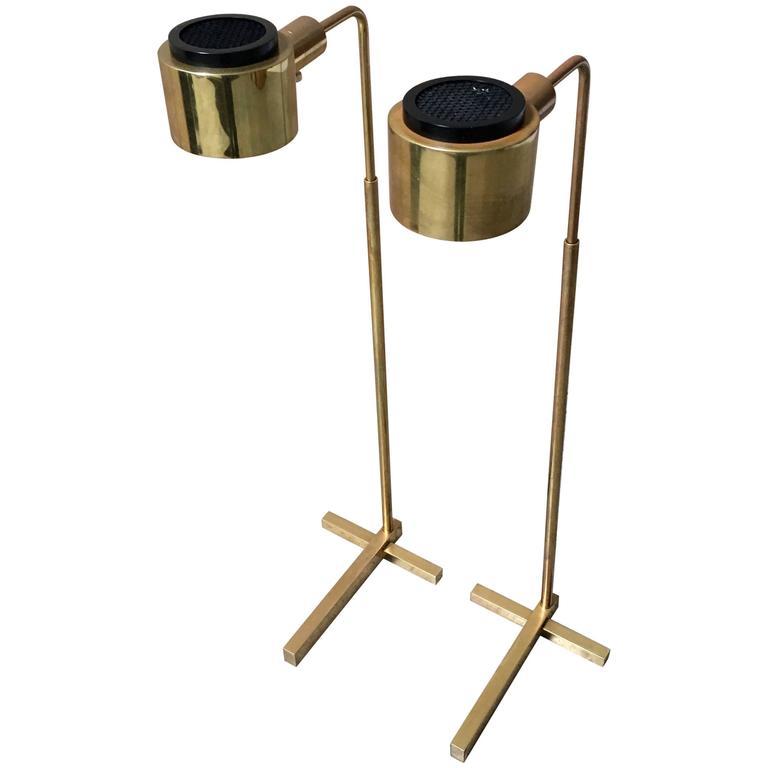 Casella brass adjustable floor lamp at 1stdibs for Casella brass floor lamp