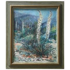 Yucca Valley Oil on Canvas Painting by Anna Louise Thorne, 1952