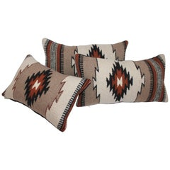 Group of Three Navajo Indian Weaving Kidney Pillows