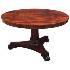English William IV Centre Table of Rosewood, circa 1830s