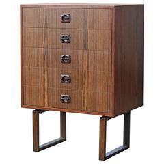 Illum Wikkelsø Style Medium Size Rosewood Dresser Danish, Mid-Century