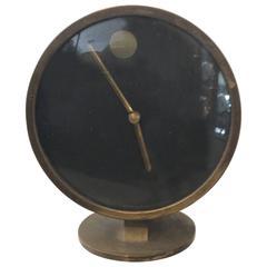 Mid-Century Modern Nathan George Horwitt Howard Miller Nelson Style Brass Clock