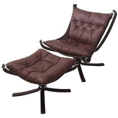 Mid-Century Danish Modern Rosewood and Leather by Sigurd Ressell Falcon