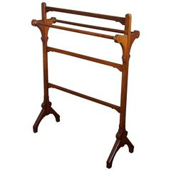 Arts & Crafts Walnut Towel Rack by Gillow & Co Attributed to Bruce James Talbert