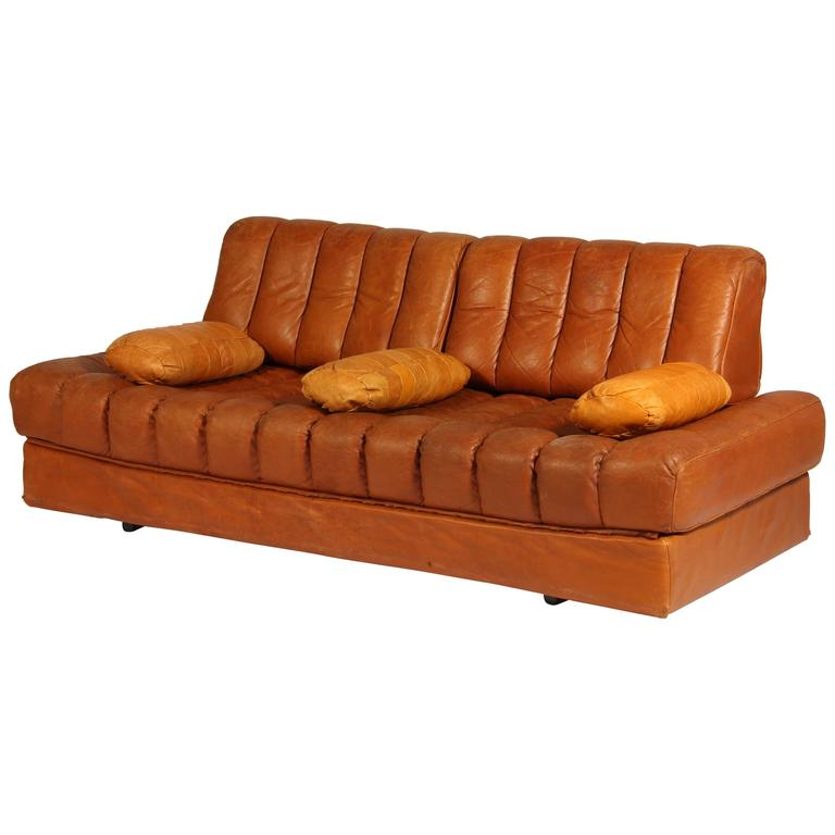 Vintage DS 85 Brown Leather Daybed from De Sede, 1960s