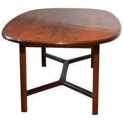 Rosewood Oval Table by Torbjørn Afdal, Bruksbo