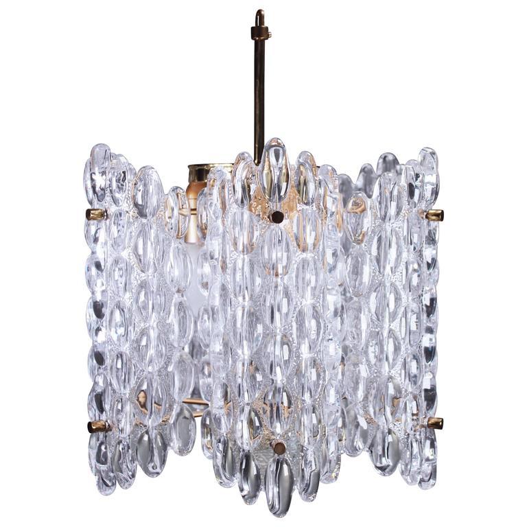 pair of modern crystal chandeliers by carl fagerlund for orrefors 1 - Modern Crystal Chandeliers