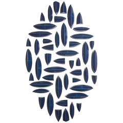 Maren Kloppmann, Wall Pillows Blue Oval I