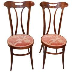 Pair of Art Nouveau Side Chairs