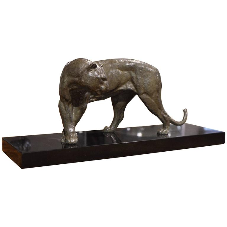 Irenee Rochard Art Deco Bronze Panther