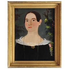William Matthew Prior Portrait of Martha Bancroft, New Hampshire circa 1830-1840