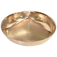 Silver Divided Snack Bowl