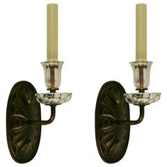 Pair of Tulip Glass Sconce