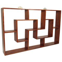 Chinese Rosewood Curio Wall Shelf