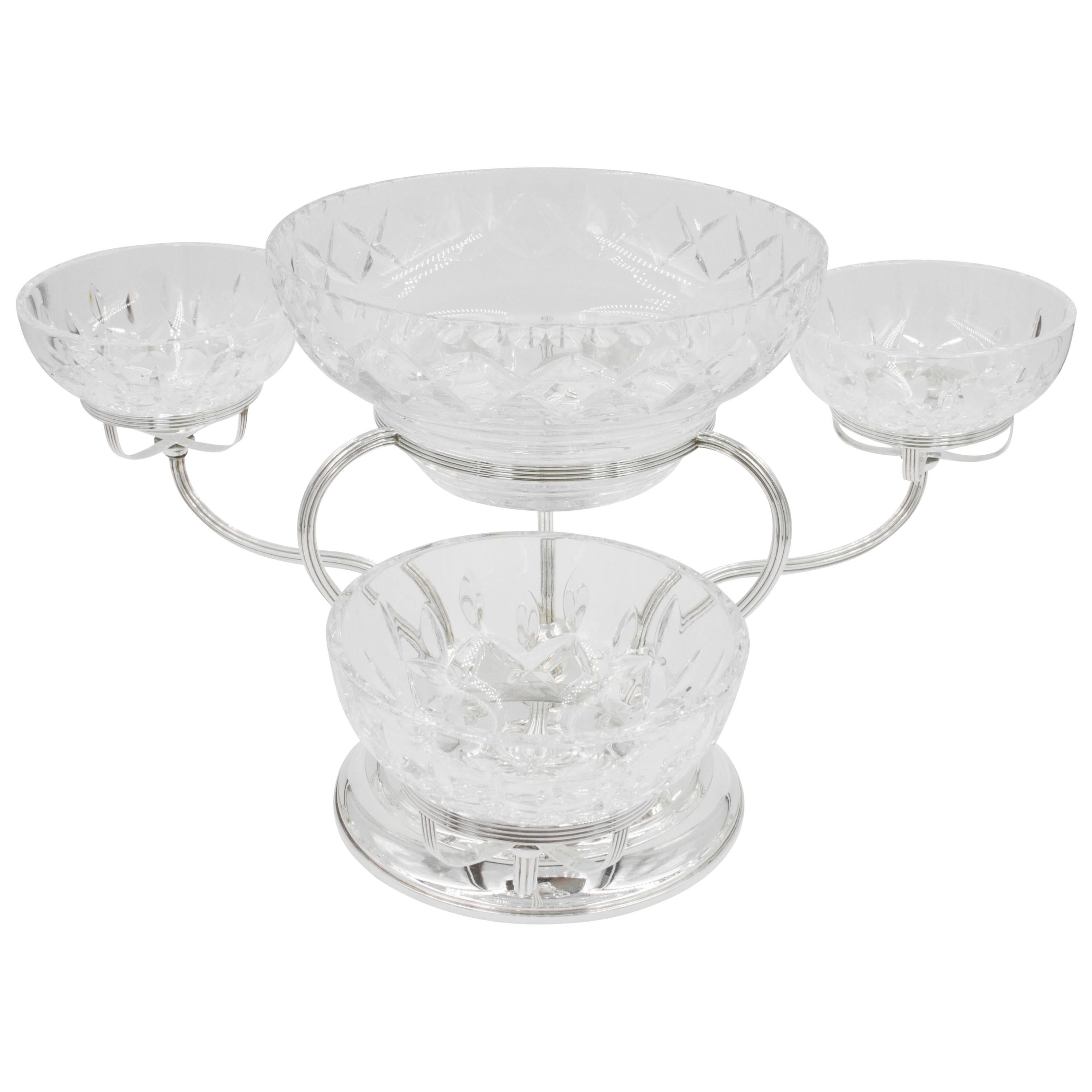 Sterling and Crystal Epergne