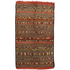 Boho Chic Vintage Berber Moroccan Rug with Mid-Century Modern Style