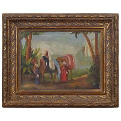 French Oil on Canvas, Three Wise Men, circa 1830-1840