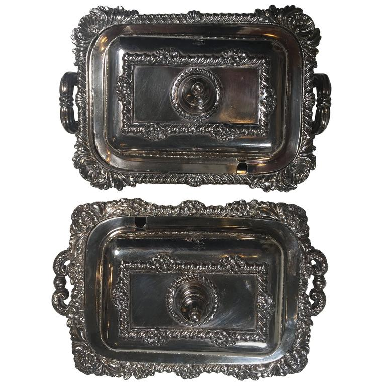 19th Century Sterling Silver Serving Pieces For Sale