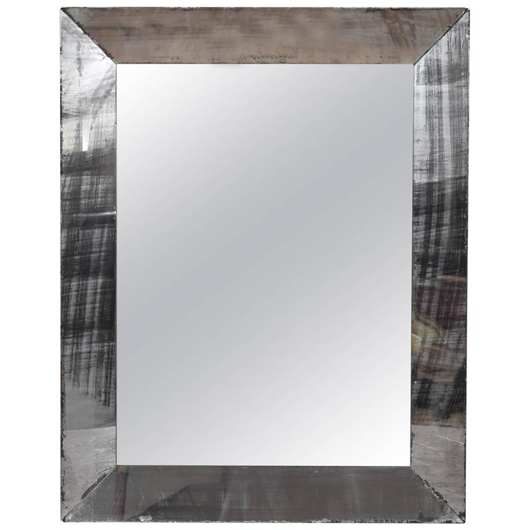 French Late Art Deco Five-Pane Mirror