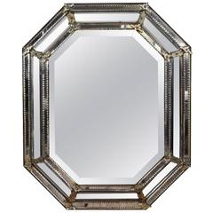 Italian, Venetian, Octagonal Mirror, Mid to 3rd Quarter 19th Century