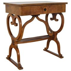 Italian, Tuscan, Light Walnut Work Table, Secon Quarter of the 19th Century
