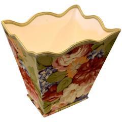 Floral Wastebasket