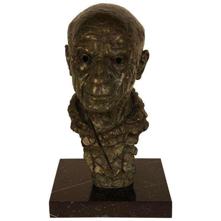Bronze Statue, Depicting Picasso 1975, Artist Ricard Sala