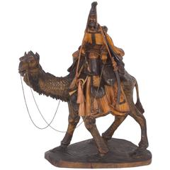 Early 20th Carved Moorish Figure on a Camel