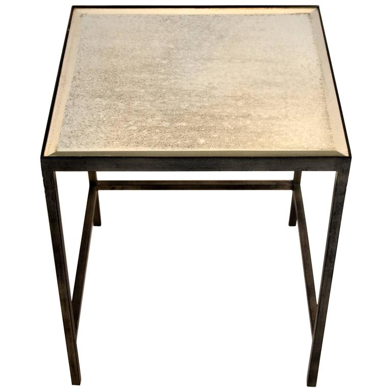 Mirror Top Side Table