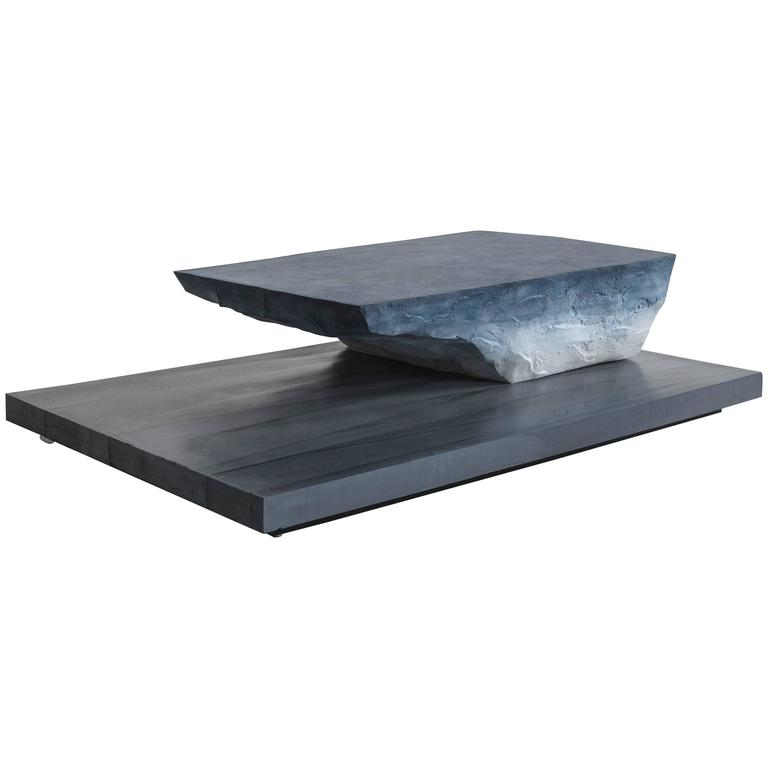 Drift Coffee Table, Sand and Cement by Fernando Mastrangelo For Sale