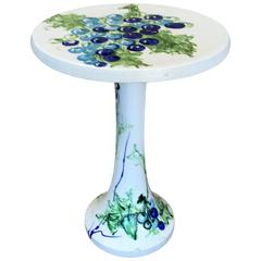 Raymor Ceramic Wine Table with Grapevine Decoration