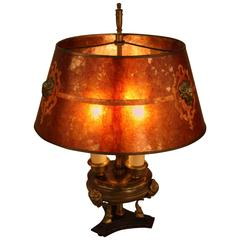 American Bronze and Mica Table Lamp