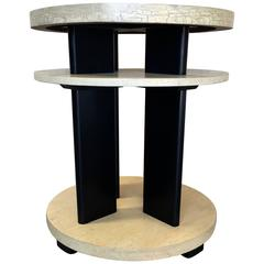 Paul Laszlo for Brown Saltman Side Table with Distressed Finish