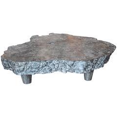 Unusual Ebonized Lyche Wood Organic Form Table