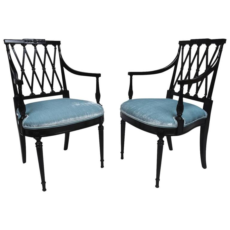 Pair of Hollywood Regency Armchairs at 1stdibs