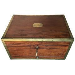 Major-General Sir Peregrine Maitland's Mahogany Document Box, circa 1825
