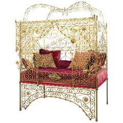 19th Century Turkish Wrought Iron Bed
