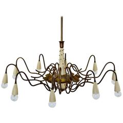 Italian Spider Chandelier Made with Antique Parts For Sale at 1stdibs