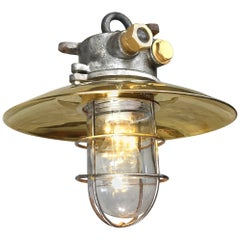 Late Century Iron, Brass and Glass Explosion Proof Industrial Pendant