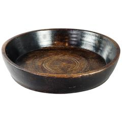 Irish Large 19th Century Beech Wood Bowl Georgian, circa 1820