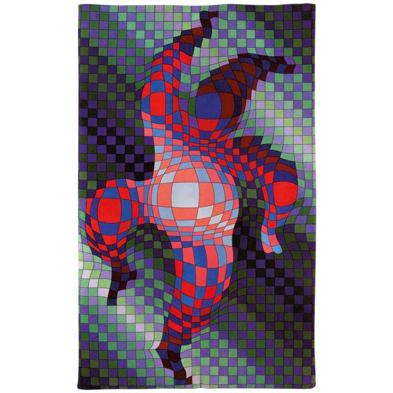 Victor Vasarely, Hand Signed Original Tapestry