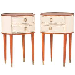Pair of Bedside Tables by Halvdan Pettersson