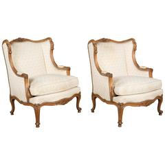 Pair of Louis XV Style French Armchairs