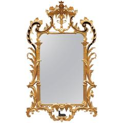Water Gilded Hand-Carved Mirror